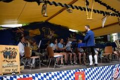 Das Jugendblasorchester aus Kahl unter der Leitung von Marcel Schultheis